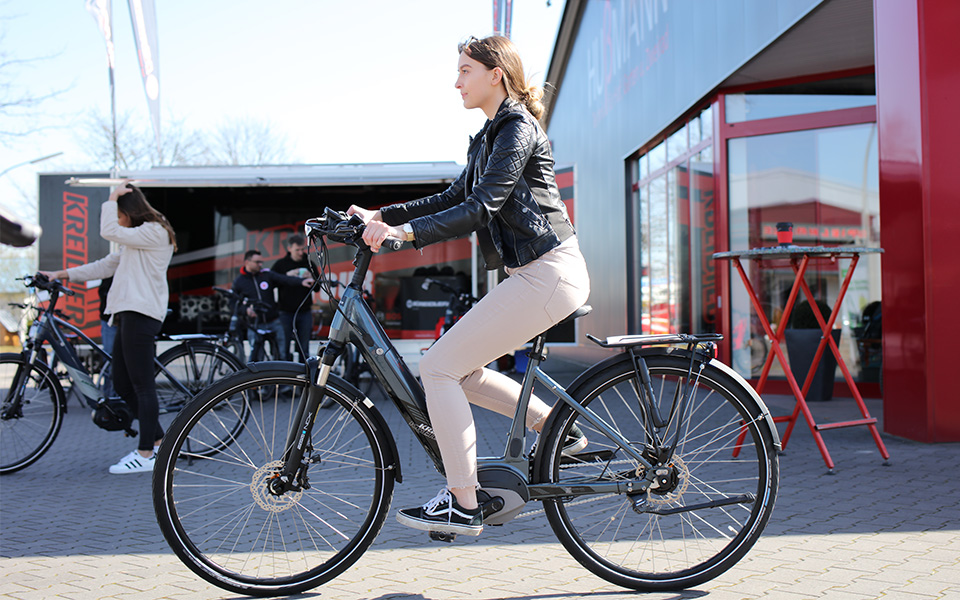 e bikes testen bei der kreidler e bike on tour 2019. Black Bedroom Furniture Sets. Home Design Ideas